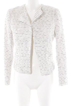 H&M Kurz-Blazer weiß-schwarz Streifenmuster Business-Look