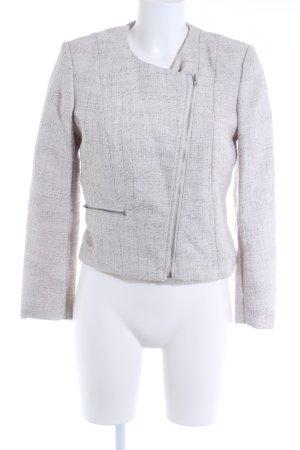 H&M Kurz-Blazer wollweiß-silberfarben meliert klassischer Stil