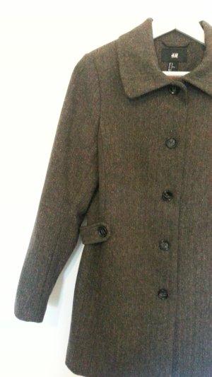 H&M Kurz Mantel Jacke Gehrock Tweed Gr. 40 - NEU
