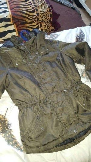 H&M kurz Parka Jacke oliv grün khaki M 38 40