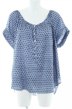 H&M Kurzarm-Bluse abstraktes Muster Street-Fashion-Look