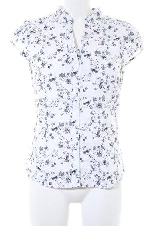 H&M Kurzarm-Bluse Animalmuster klassischer Stil