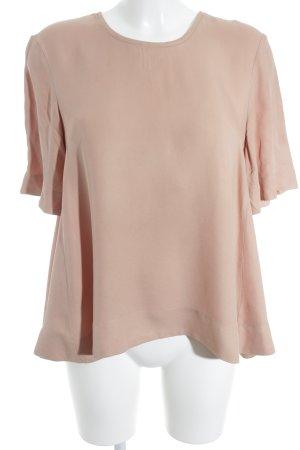 H&M Kurzarm-Bluse apricot Elegant