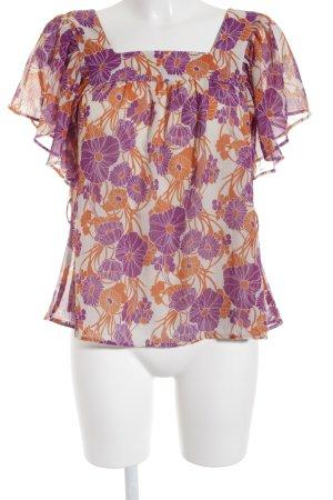 H&M Kurzarm-Bluse Blumenmuster