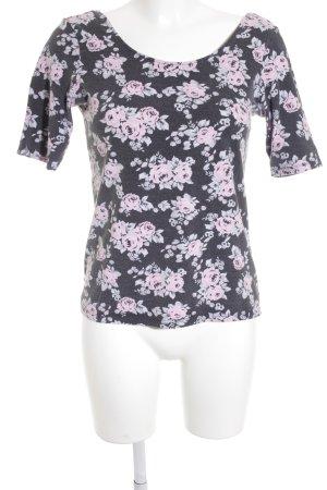 H&M Kurzarm-Bluse Blumenmuster Casual-Look