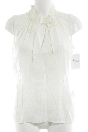 H&M Blouse à manches courtes crème motif de tache style classique
