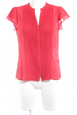 H&M Kurzarm-Bluse dunkelrot Vintage-Look