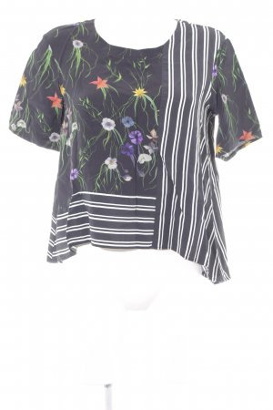 H&M Kurzarm-Bluse florales Muster Casual-Look