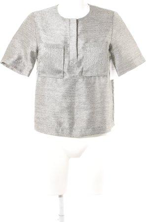 H&M Blouse à manches courtes gris moucheté élégant