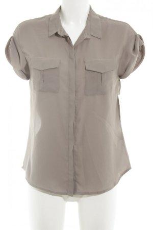 H&M Kurzarm-Bluse grau schlichter Stil