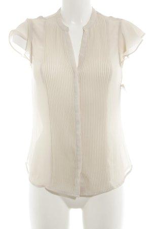 H&M Kurzarm-Bluse hellbeige schlichter Stil