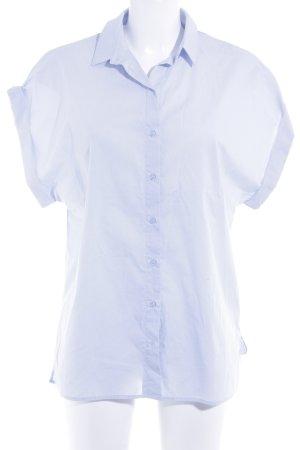 H&M Kurzarm-Bluse himmelblau Casual-Look