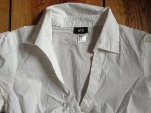 H&M-Kurzarm-Bluse, klassisch, weiß