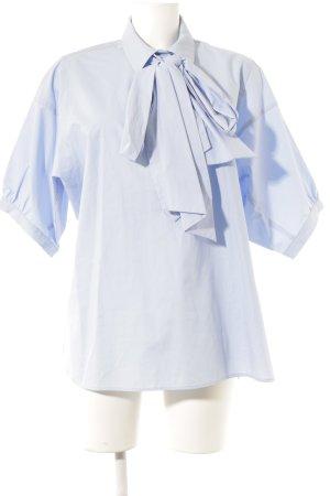 H&M Kurzarm-Bluse kornblumenblau Casual-Look