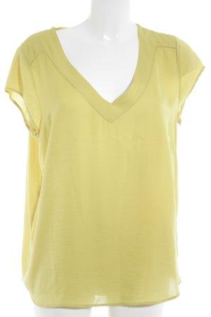 H&M Kurzarm-Bluse limettengelb Casual-Look