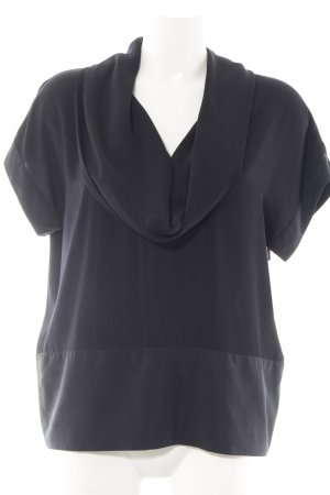 H&M Kurzarm-Bluse schwarz Elegant