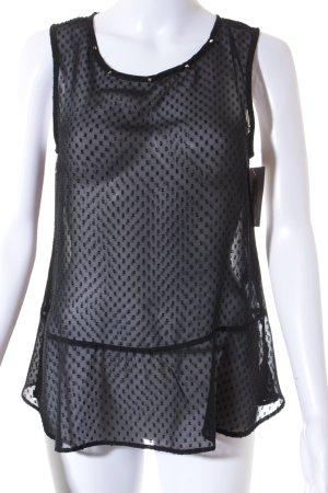 H&M Kurzarm-Bluse schwarz Nietenelemente