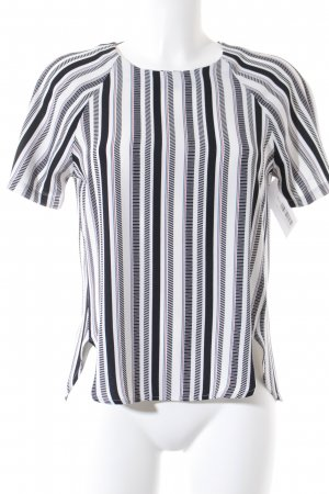 H&M Kurzarm-Bluse Streifenmuster Business-Look