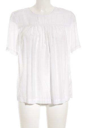 H&M Kurzarm-Bluse weiß Romantik-Look