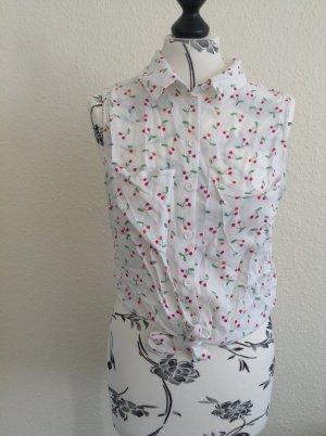 H&M Kurzarm Bluse zum Binden Kirschen Sommer NEU Größe 38