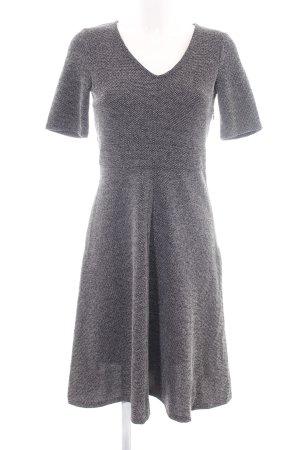 H&M Kurzarmkleid silberfarben Webmuster Elegant