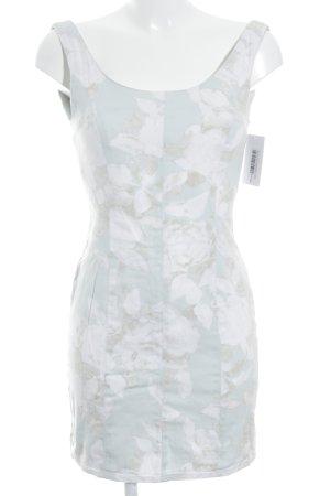 H&M Kurzarmkleid blassgrün-creme Blumenmuster Street-Fashion-Look