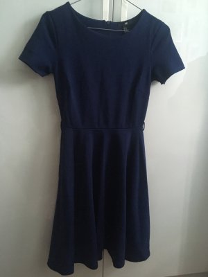 H&M   Kurzarmkleid   blau   XS