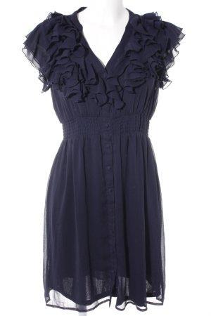 H&M Kurzarmkleid dunkelblau Elegant