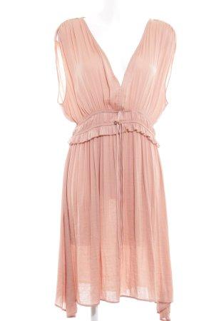 H&M Shortsleeve Dress nude shimmery