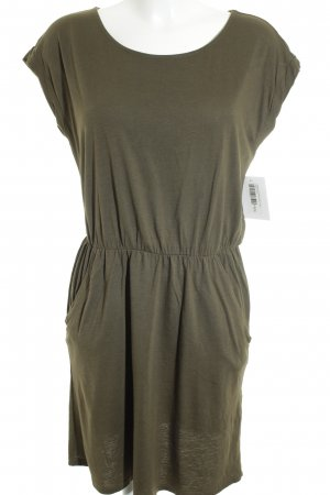 H&M Kurzarmkleid olivgrün-khaki Casual-Look