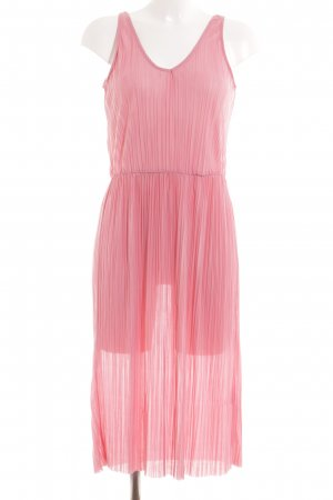 H&M Kurzarmkleid rosa Casual-Look