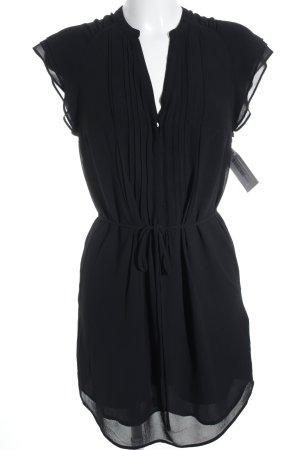 H&M Kurzarmkleid schwarz Elegant