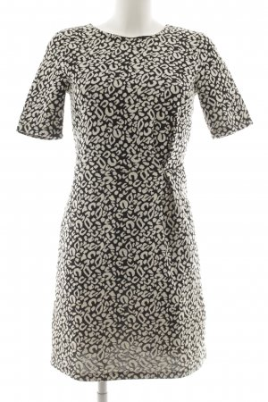 H&M Kurzarmkleid schwarz-wollweiß abstraktes Muster Casual-Look