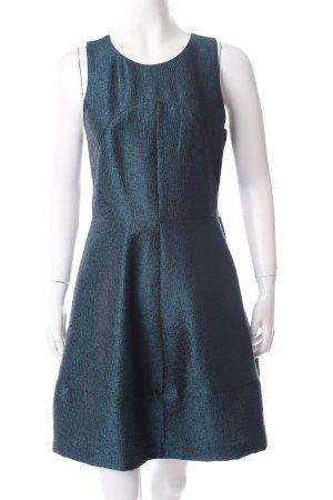 H&M Kurzarmkleid waldgrün Glanz-Optik