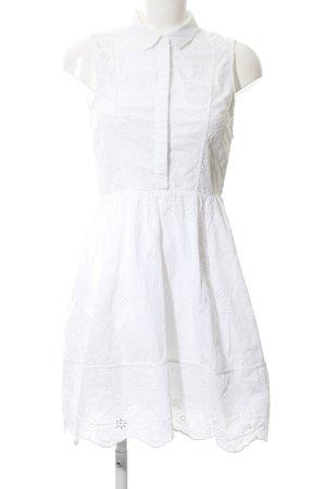 H&M Kurzarmkleid weiß florales Muster Casual-Look