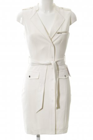 H&M Kurzarmkleid wollweiß Elegant