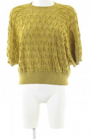 H&M Jersey de manga corta amarillo pálido look casual