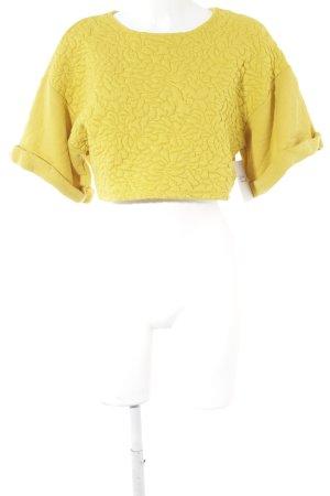 H&M Jersey de manga corta amarillo oscuro look casual