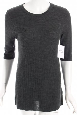 H&M Short Sleeve Sweater grey simple style