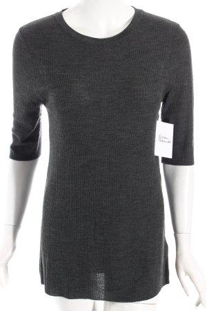 H&M Kurzarmpullover grau schlichter Stil