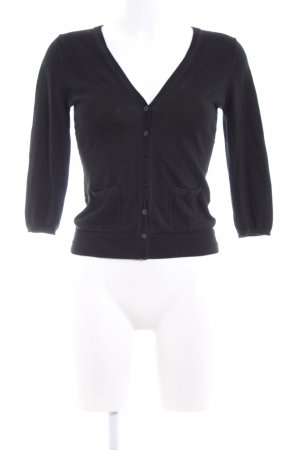 H&M Short Sleeve Knitted Jacket black casual look