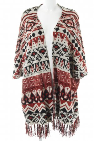 H&M Short Sleeve Knitted Jacket Aztec pattern casual look