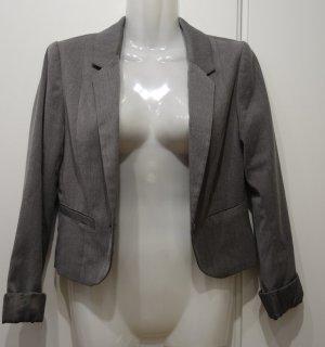 H&M Kurzblazer Jacket Bolero Jacke Gr. S (36) grau Retro Business Clean Chic