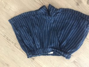 H&M High-Waist-Shorts steel blue