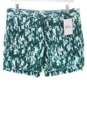 H&M Kurze Hose waldgrün-weiß abstraktes Muster