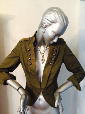 H&M kurze Jacke im Militärstyle khaki Gr. M