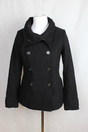 H&M kurzer Mantel, schwarz, Größe 36