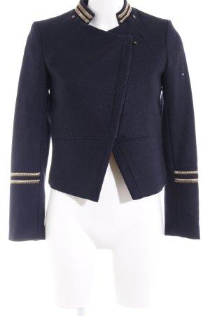 H&M Kurzjacke goldfarben-dunkelblau Marine-Look