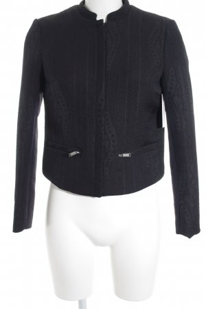 H&M Kurzjacke schwarz Ornamentenmuster Business-Look