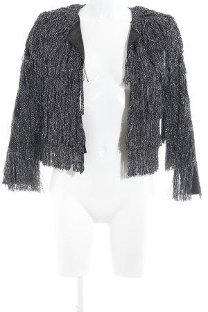 H&M Kurzjacke schwarz-silberfarben extravaganter Stil